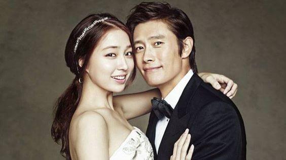 Lee Byung Hun andLee Min Jung